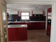 Large open plan kitchen